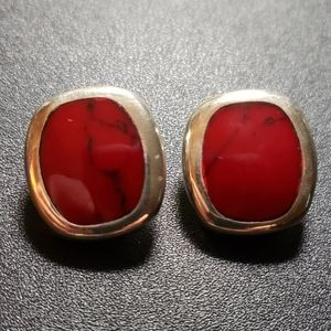 Red jasper in sterling,  stamped 925, NWOT